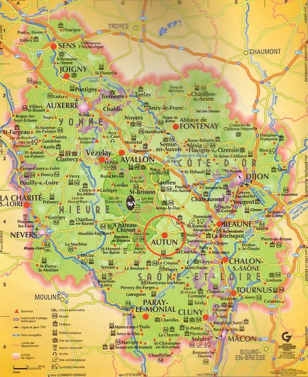 plan de situation : Bourgogne