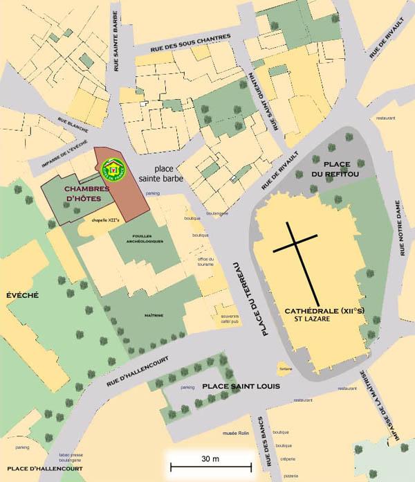 plan d'accès Autun